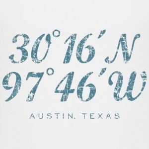Austin Coordinates T-Shirt (Children/White) - Kids' Premium T-Shirt