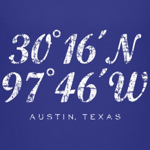 Austin Coordinates T-Shirt (Children/Blue) - Kids' Premium T-Shirt