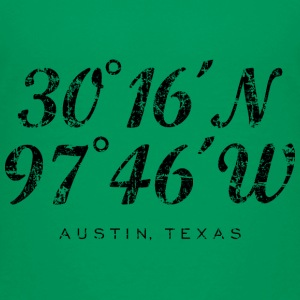 Austin Coordinates T-Shirt (Children/Green) - Kids' Premium T-Shirt