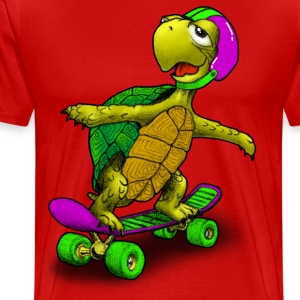 Skateboard Turtle - Men's Premium T-Shirt
