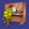 Turtle Playing Piano - Men's Premium T-Shirt