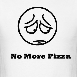 No More Pizza - Men's T-Shirt
