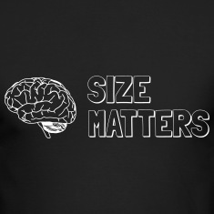 Size Matters Brain Innuendo Long Sleeve Shirts