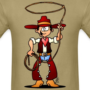 Cowboy with a lasso T-Shirts - Men's T-Shirt