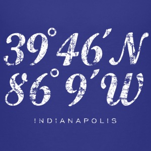 Indianapolis Coordinates T-Shirt (Children/Blue) - Kids' Premium T-Shirt