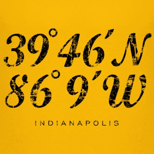 Indianapolis Coordinates T-Shirt (Children/Yellow) - Kids' Premium T-Shirt