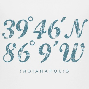Indianapolis Coordinates T-Shirt (Children/White) - Kids' Premium T-Shirt