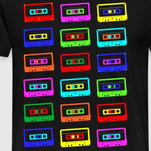 Colourful Cassette Tapes Shirt - Men's Premium T-Shirt