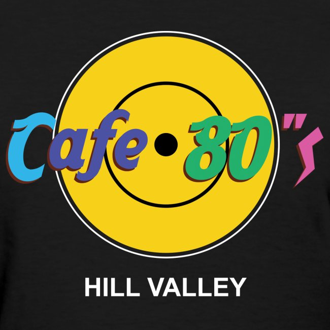 Cafe 80s - Back to the Future Hard Rock Cafe Parody T-Shirt Hill Valley