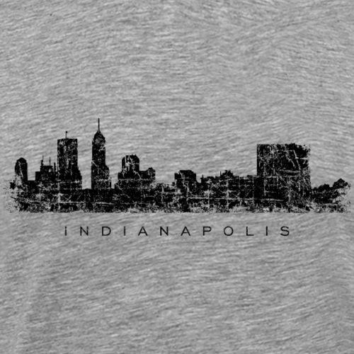 Indianapolis Skyline Vintage Black