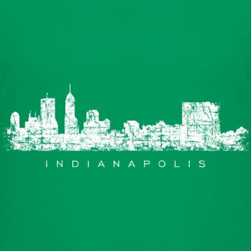 Indianapolis Skyline Vintage White