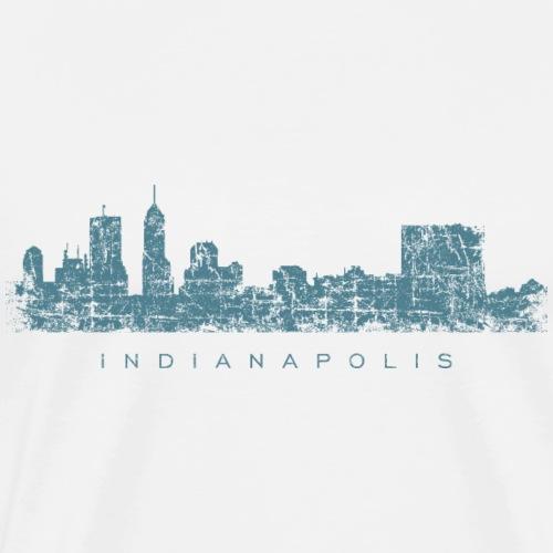 Indianapolis Skyline Vintage Blue