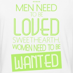 Men Need To Be Loved Sweethearth T-Shirts - Baseball T-Shirt