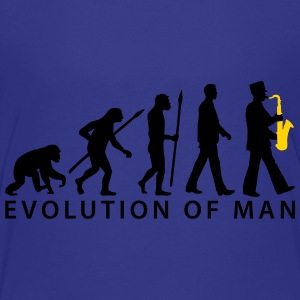 evolution of man marching band saxophone_112015_ Kids' Shirts - Kids' Premium T-Shirt
