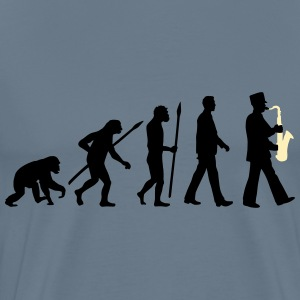 evolution of man marching band saxophone_112015_ T-Shirts - Men's Premium T-Shirt