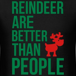 Reindeer are better than people_2c.ai T-shirts - T-shirt pour hommes
