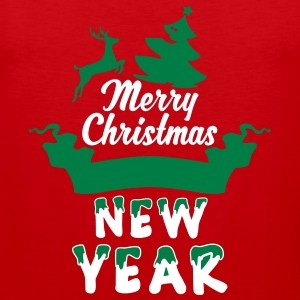 Merry-Christmas-and-a-Happy-new-Year_3c.ai Tank Tops - Men's Premium Tank