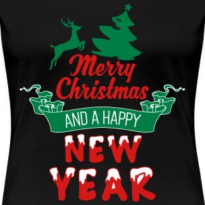 Merry-Christmas-and-a-Happy-new-Year_3c.ai Women's T-Shirts - Women's Premium T-Shirt