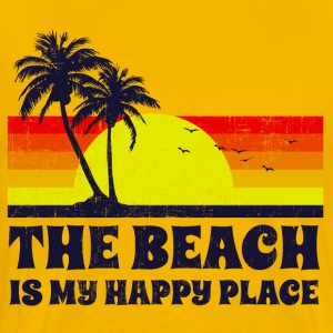 Beach Is My Happy Place T-Shirts - Men's Premium T-Shirt