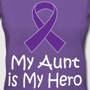 Alzheimers Lupus Pancreatic Cancer Aunt Is My Hero Women's T-Shirts - Women's V-Neck T-Shirt