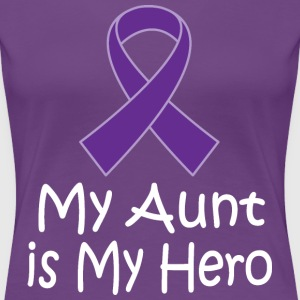 Alzheimers Lupus Pancreatic Cancer Aunt Is My Hero Women's T-Shirts - Women's Premium T-Shirt