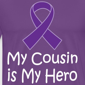 Alzheimers Lupus Pancreatic Cancer Cousin Is Hero T-Shirts - Men's Premium T-Shirt