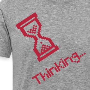 nerd thinking retro gamer  T-Shirts - Men's Premium T-Shirt