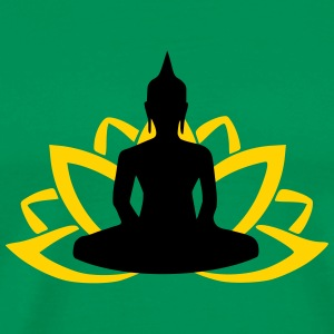 Yoga Lotus Buddha T-Shirts - Men's Premium T-Shirt