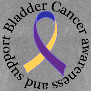 Bladder Cancer Awareness Support Ribbon Women's T-Shirts - Women's Premium T-Shirt