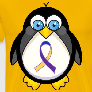 Bladder Cancer Awareness Penguin T-Shirts - Men's Premium T-Shirt