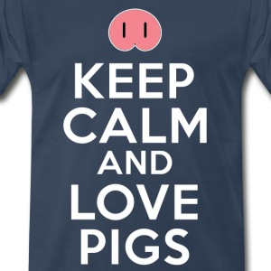 Keep Calm And Love Pigs T-Shirts - Men's Premium T-Shirt