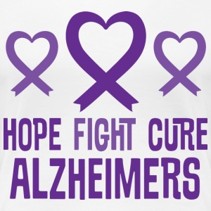 Alzheimers Hope Fight Cure Heart Ribbon Women's T-Shirts - Women's Premium T-Shirt