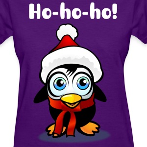 Baby Penguin With Xmas Hat - Women's T-Shirt