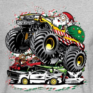 Santa Claus Monster Truck Long Sleeve Shirts - Men's Long Sleeve T-Shirt