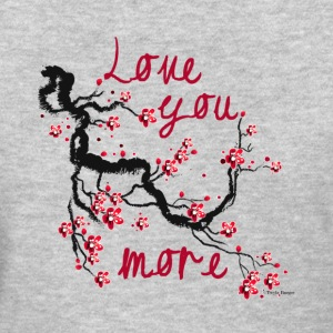 Love You More Cherry Blossom - Grey - Women's T-Shirt