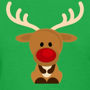 cute rudolf - Women's T-Shirt