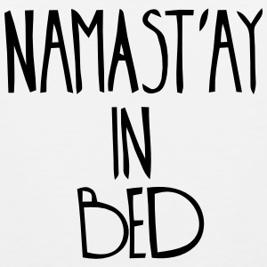 NAMASTAY IN BED Tank Tops - Men's Premium Tank