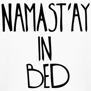 NAMASTAY IN BED Kids' Shirts - Kids' Long Sleeve T-Shirt