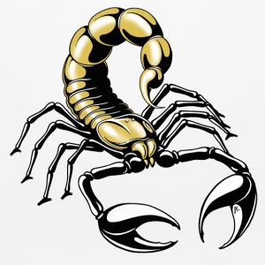 scorpion - golden - yellow - black - Mouse pad Horizontal