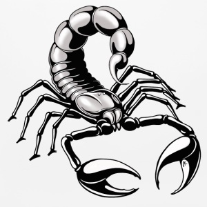 scorpion - silver - grey - black - Mouse pad Horizontal