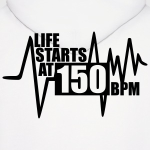 Life starts at 150 BPM Hoodies - Men's Hoodie