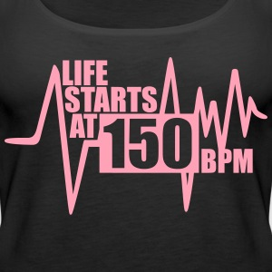 Life starts at 150 BPM Tanks - Women's Premium Tank Top
