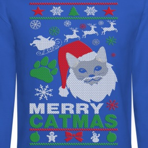 Merry Catmas Ugly Christmast Shirts Long Sleeve Shirts - Crewneck Sweatshirt
