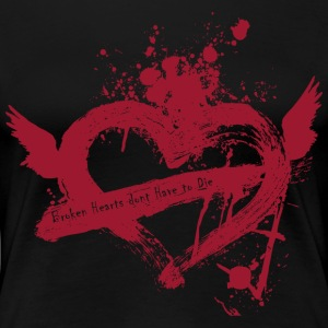 Broken Flying Splatter Heart - Women's Premium T-Shirt