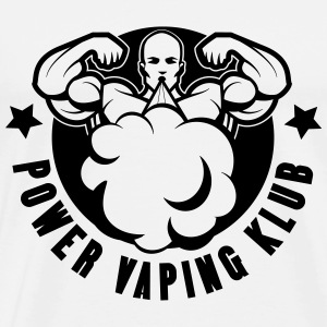 POWER VAPING KLUB 1 couleur T-Shirts - Men's Premium T-Shirt