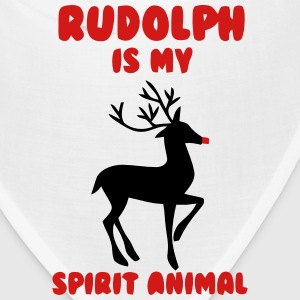 RUDOLPH IS MY SPIRIT ANIMAL Caps - Bandana