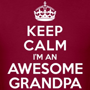 Keep calm Awesome Grandpa T-Shirts - Men's T-Shirt