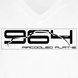 Aircooled  911 964 T-Shirts - Men's V-Neck T-Shirt by Canvas