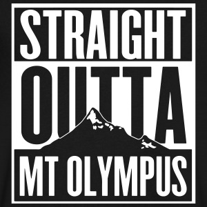 Straight Outta Mt Olympus T-Shirts - Men's V-Neck T-Shirt by Canvas