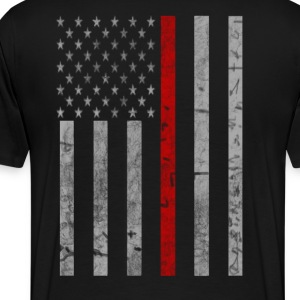 Thin Red Line Flag - Men's Premium T-Shirt